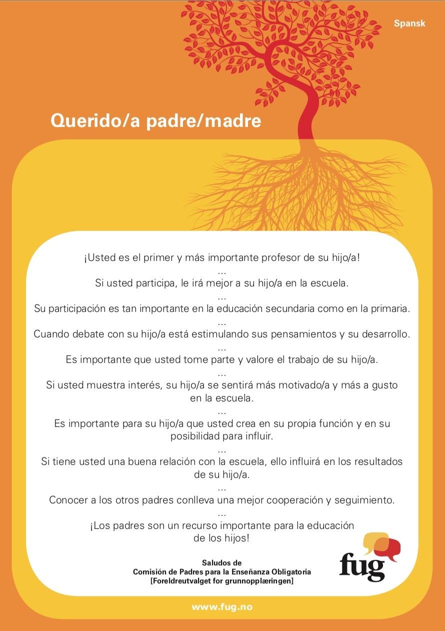 Foreldreplakaten spansk