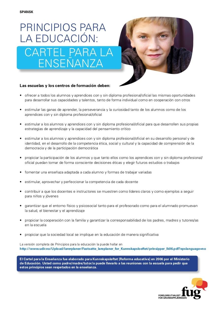 Læringsplakaten spansk