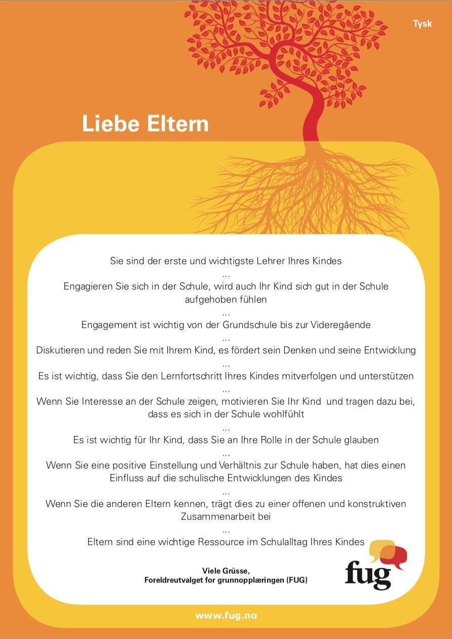 Foreldreplakaten tysk