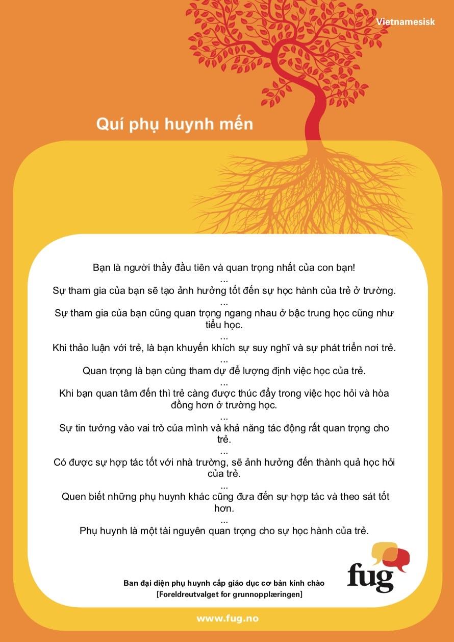 Foreldreplakaten vietnamesisk