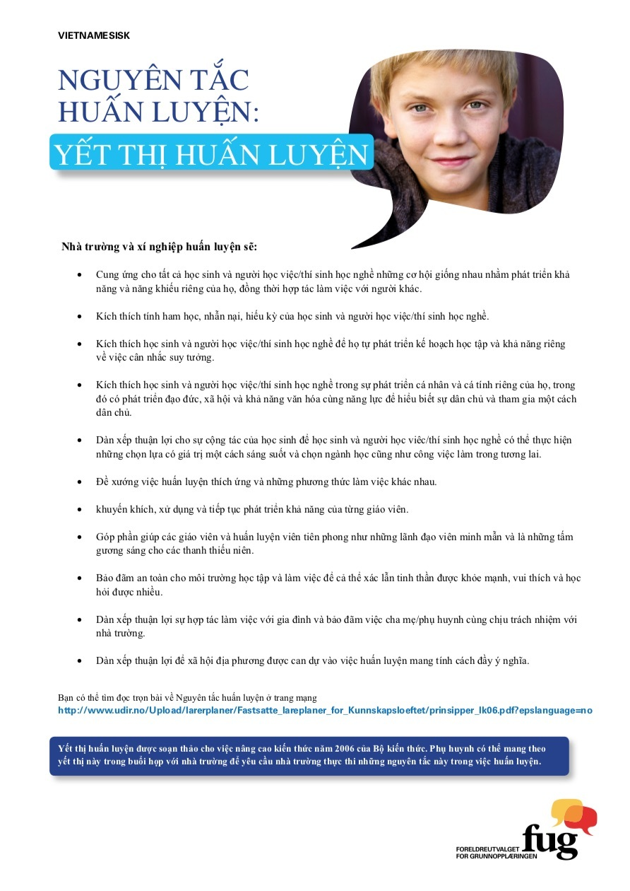 Læringsplakaten vietnamesisk