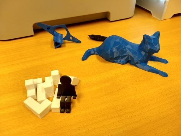 3D-figurer som vi har printet