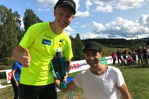 Martin Kirkeberg Mørk vant Ole Einar Bjørndalens Motbakkeløp 2018. Foto: Privat.