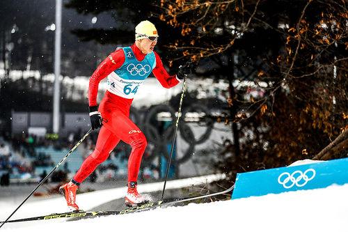 Sun Qinghai var en av fire kinesiske langrennsløpere som deltok under OL i Pyeongchang 2018. Foto: Modica/NordicFocus.
