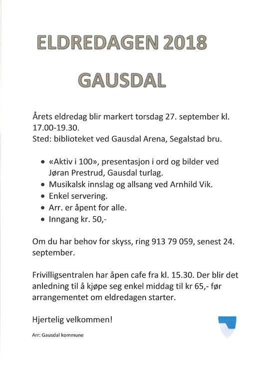 Plakat Eldredagen 2018