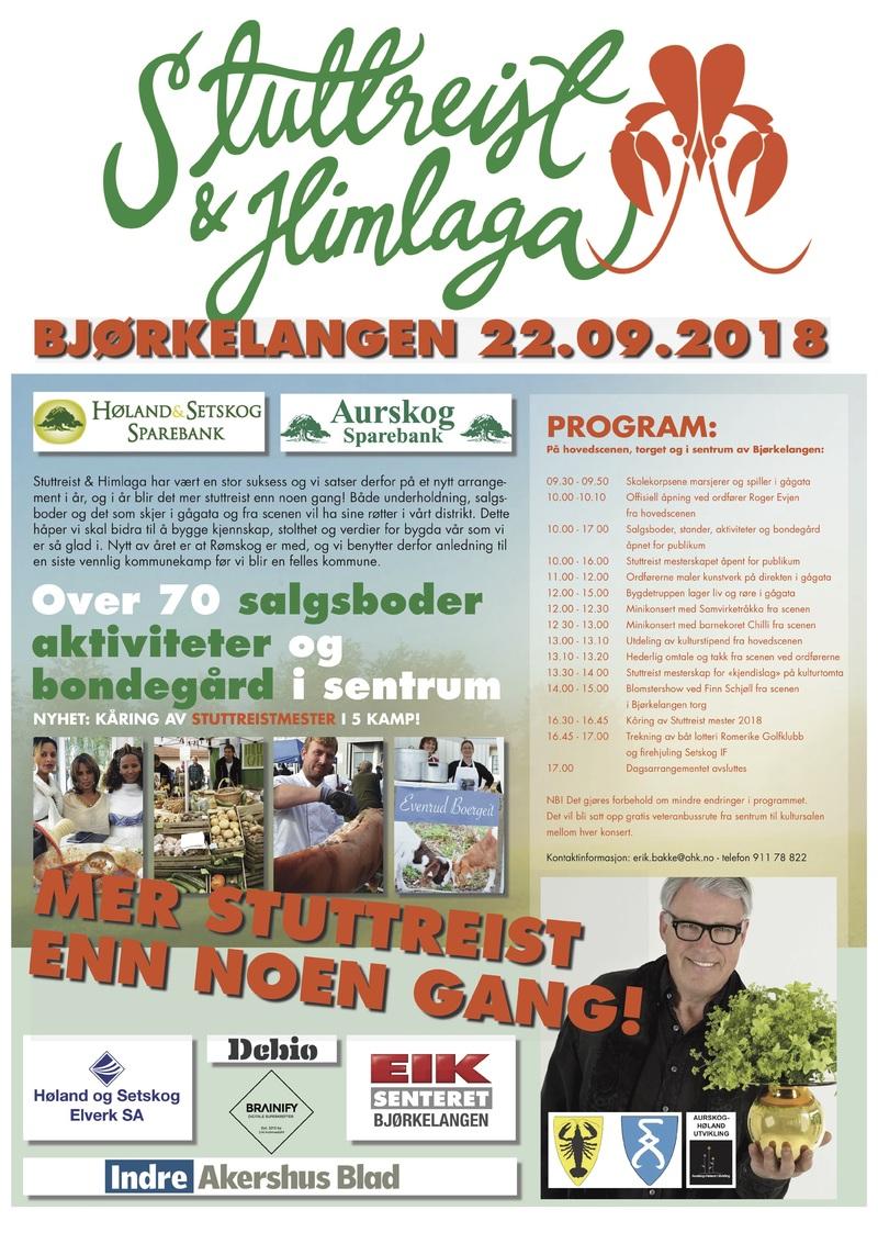 Plakat for Stuttreist og Himlaga 2018