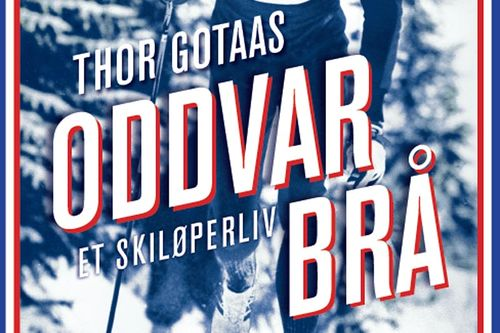 Boken Oddvar Brå - Et skiløperliv av Thor Gotaas. Utsnitt fra bokas omslag, forsiden.
