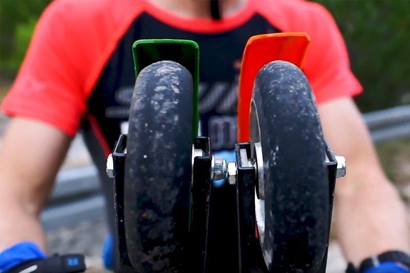 IDT Sports regnhjul testes ut av Team Kaffebryggeriet ved Magnus Vesterheim og Vetle Thyli. Foto fra deres YouTube-film.