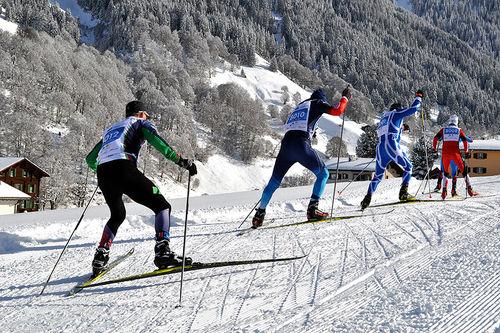 Hvert år trekker veteran-VM over 1000 løpere fra 30 år og eldre, fra over 20 ulike nasjoner. Illustrasjonsbildet er fra Veteran-VM i Klosters 2017. Arrangørfoto.