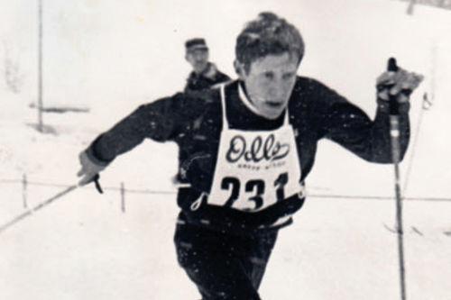 Fra boka Oddvar Brå - Et skiløperliv, av Thor Gotaas: Ivar Formo i junior-NM på Frognersetra i 1969.