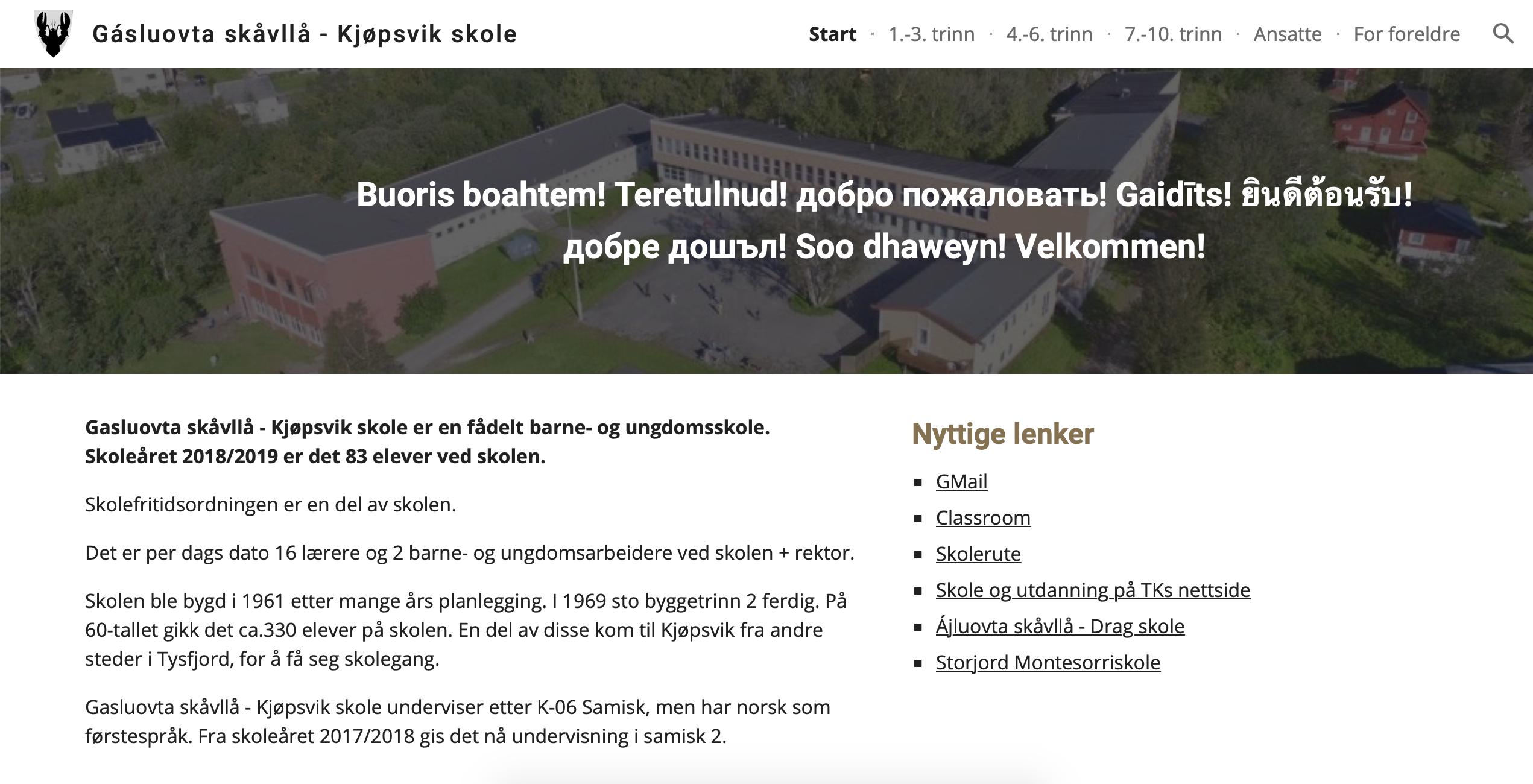 Nye nettsider Kjøpsvik skole.png