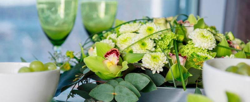 Blomster-konfirmasjon-bordet