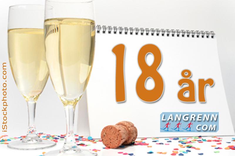 """2. november 2018 fylte Langrenn.com 18 år. Den første måneden """"som myndig"""" ga fortsatt vekst for nettstedet."""