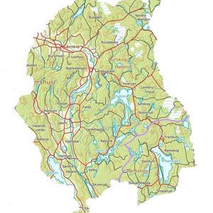 Kart over nye Aurskog-Høland