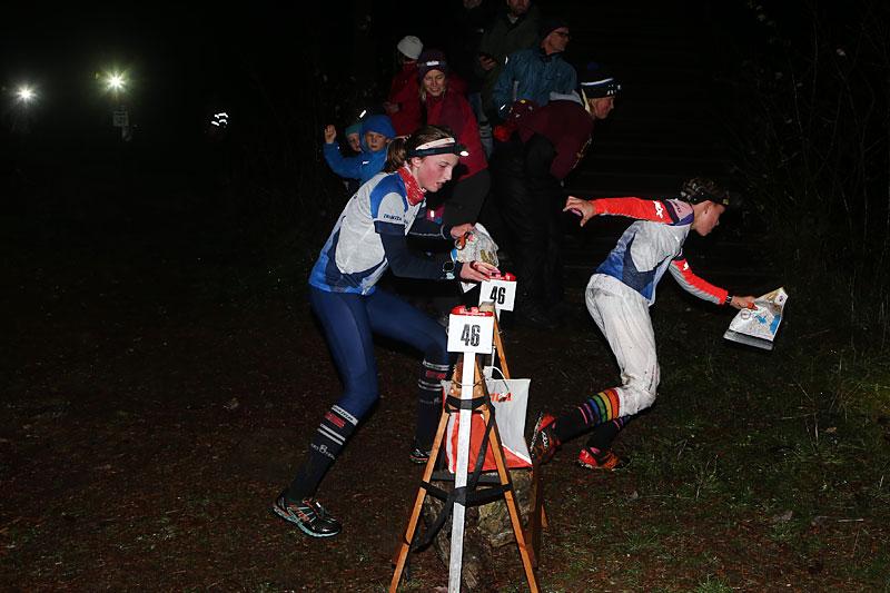 Amélie Aamodt var klart raskeste jente og i hard kamp med de raskeste guttene på Natt-O-toget.