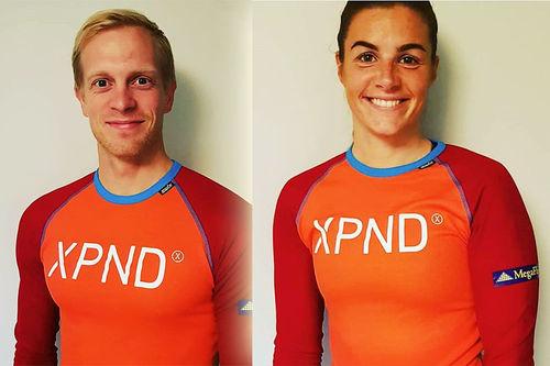 Kristoffer Nielsen og Ingeborg Dahl fra Team XPND. Teamfoto.