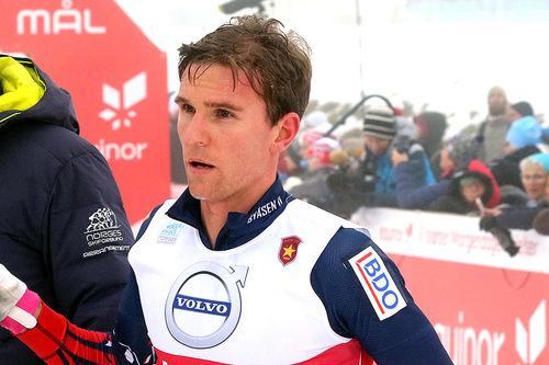 Didrik Tønseth vant åpningsrennet med 15 km klassisk under Beitosprinten 2018. Foto: Erik Borg.