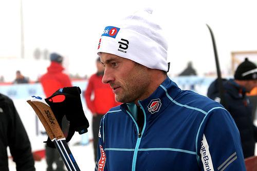 Petter Northug etter sesongstarten på Beitostølen 2018. Northug ble diskvalifisert for skøytetak i det 15 km lange klassiskrennet. Foto: Erik Borg.