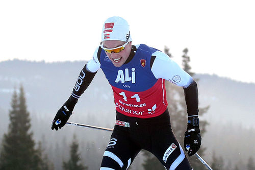 Gjøran Tefre på vei mot prologseier i Beitosprinten 2018. Foto: Erik Borg.