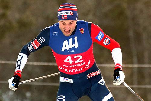 Petter Northug ble slått ut i sprintprologen under åpningshelga på Beitostølen 2018. Foto: Erik Borg.
