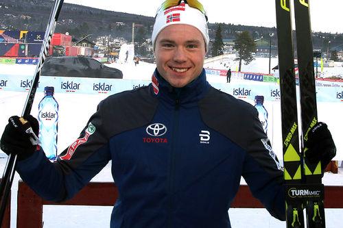 Gjøran Tefre slo til med 4.-plass i skøytesprinten under sesongåpningen på Beitostølen 2018. Foto: Erik Borg.