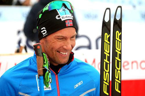 Chris Jespersen var godt fornøyd med femteplass på 15 km fri under Beitosprinten 2018. Foto: Erik Borg.