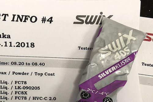 Swix sitt racingteam under verdenscupen i Ruka 2018. Foto: Morten Sætha / Swix.
