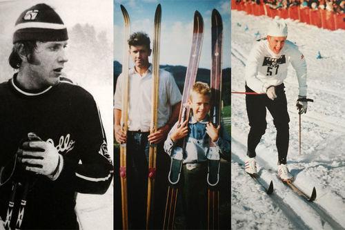 Bildecollage fra boka Oddvar Brå - Et skiløperliv. Skrevet av Thor Gotaas og gitt ut på Gyldendal.