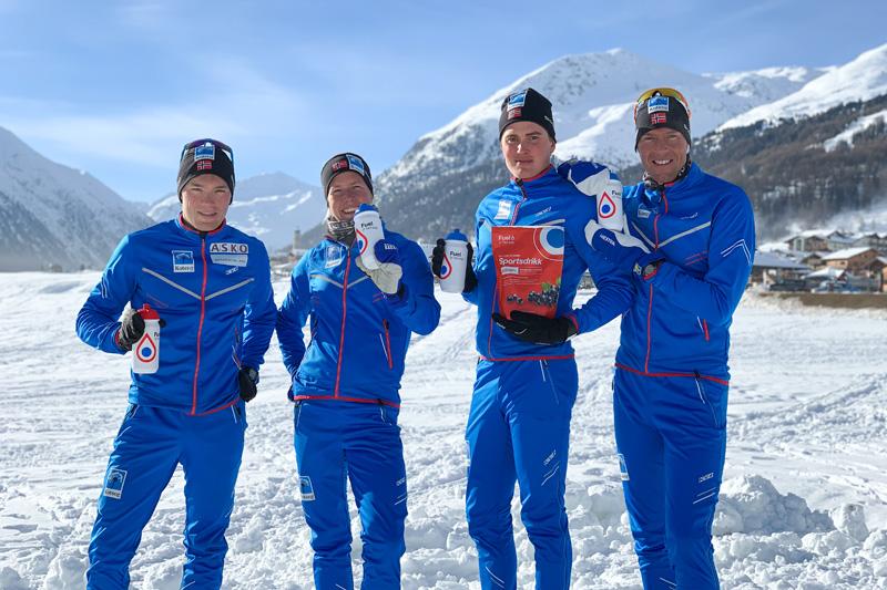 Fra venstre: Stian Hoelgaard, Astrid Øyre Slind, Torleif Syrstad og Chris Jespersen. Foto: Team Koteng.