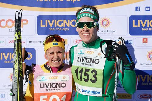 Anna Haag og Anders Gløersen tok hver sin seier i La Sgambeda 2018. Foto: Rauschendorfer/NordicFocus.