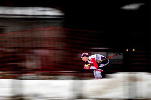 Didrik Tønseth ute i løypene under minitouren i verdenscupen på Lillehammer 2018 hvor det endte med totalseier for mannen fra Trondheim. Foto: Modica/NordicFocus.