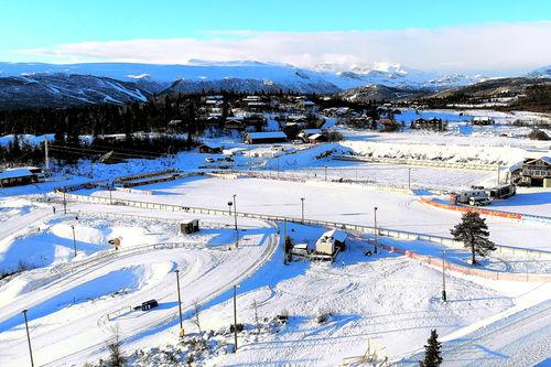Fra Beito-løypene onsdag 5. desember, noen dager før World Cup-sirkuset inntar Beitostølen. Foto: Kåre Weeg.