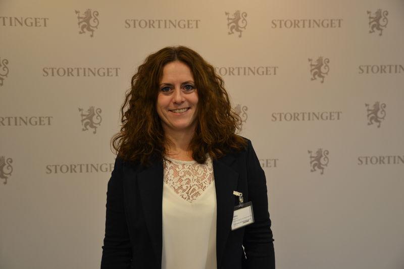 Elin Refsland i høringssalen 2018
