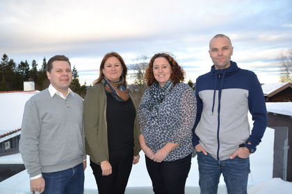 Tre nyansatte og kontorsjef i Bø