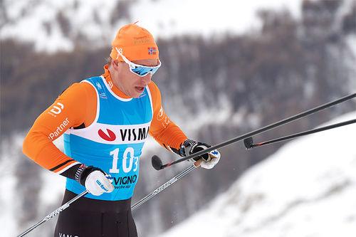 En mann som klatrer oppover resultatlistene. Foto: Rauschendorfer/NordicFocus.