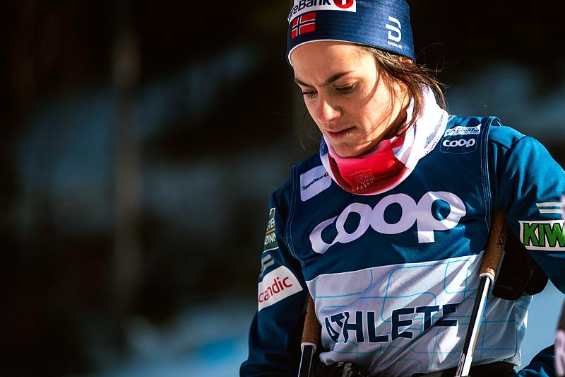 Heidi Weng på trening i forkant av Tour de Ski 2018-2019. Foto: Modica/NordicFocus.