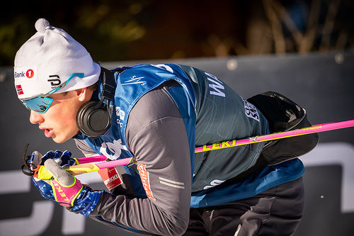 Johannes Høsflot Klæbo på trening i forbindelse med Tour de Ski 2018-2019. Foto: Modica/NordicFocus.