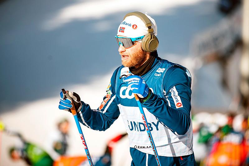 Martin Johnsrud Sundby på trening i forbindelse med Tour de Ski 2018-2019. Foto: Modica/NordicFocus.