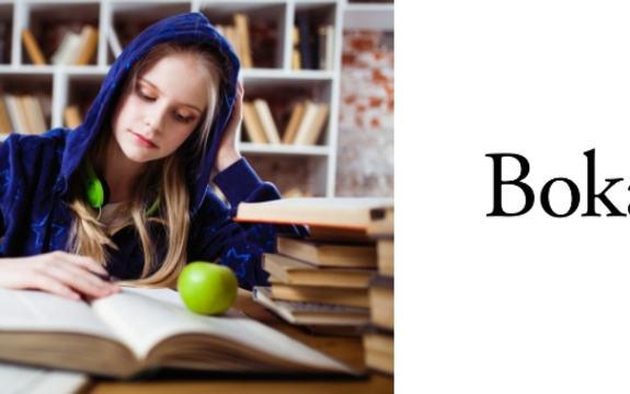 Bokåret 2019 logo FB jente leser