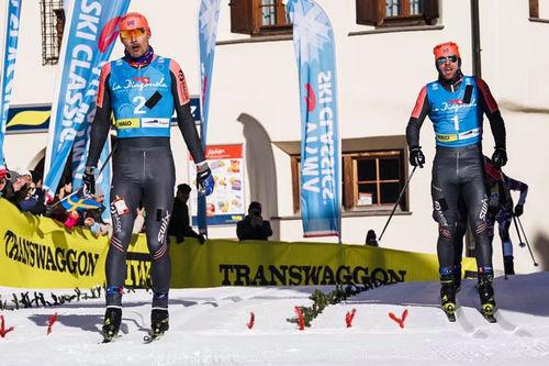 Andreas Nygaard avgjør La Diagonela 2019 og sesongens 4. renn i Ski Classics til sin fordel foran Tord Asle Gjerdalen. Foto: Magnus Östh.