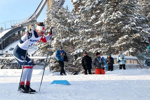 Ansgar Evensen i Lahti under sprintprologen i juniorenes verdensmesterskap 2019. Foto: Erik Borg.