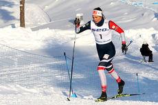Kristine Stavås Skistad under sprinten i Junior-VM 2019 i Lahti, hvor det endte med VM-gull for løperen fra Konnerud. Foto: Erik Borg.