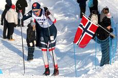 Håkon Skaanes i sprinten på Junior-VM 2019 i Lahti, hvor det hele endte med en solid VM-bronse. Foto: Erik Borg.