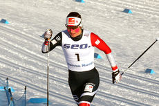 Tiril Udnes Weng på vei mot beste tid i damenes sprintprolog under U23-VM i Lahti 2019. Foto: Erik Borg.