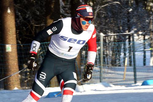 Erik Valnes var suverent best i herrenes sprintprolog under U23-VM i Lahti 2019. Foto: Erik Borg.