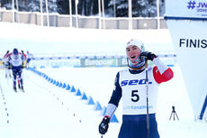 Håvard Moseby inn til sølv på 30 km fellesstart i klassisk stil under Junior-VM i Lahti 2019. Foto: Erik Borg.