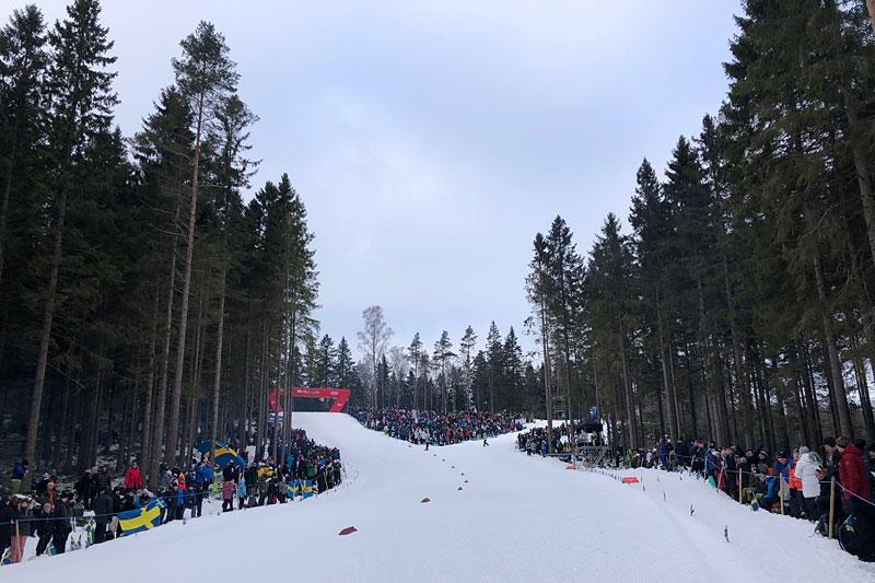 Verdenscup Ulricehamn 2019. Stemningsbilde langs løypene fra Swix. Foto: Morten Sætha/Swix Sport.
