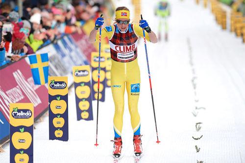 Astrid Øyre Slind ble beste norske løper i Marcialonga 2019 med sin 3. plass. Foto: Rauschendorfer/NordicFocus.