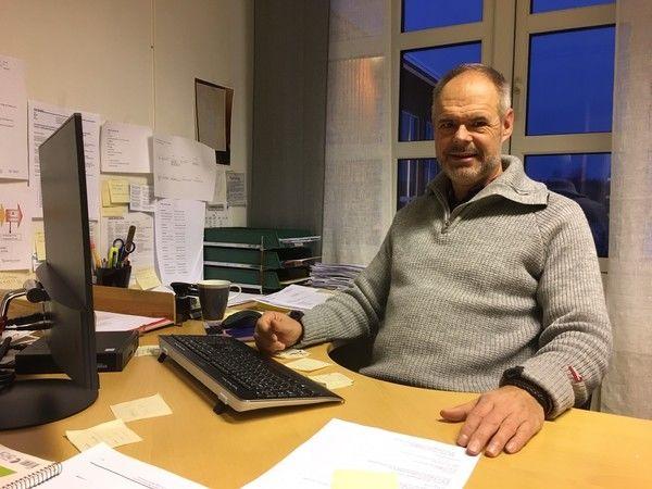Ordfører i Rømskog på sitt kontor