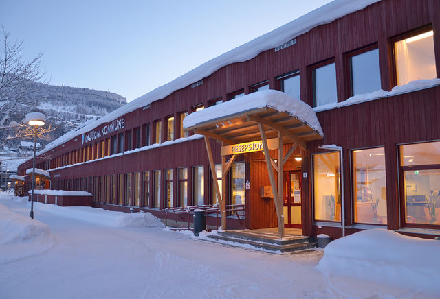 Inngang resepsjon servicetorget Gausdal kommunehus